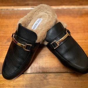 NEVER WORN!!!  Steve  Madden fur-lined mules
